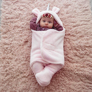 Upsimples Baby Blanket Girls Unicorn Swaddle Wrap Soft Baby Sleeping Bag Receiving Blanket for Girls (0-6 Months)