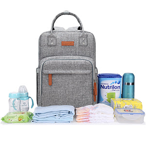 Original Travel Diaper Backpack | Light Gray (3 colors)