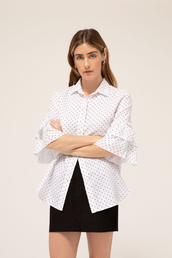 Josephine Shirt, 100% Cotton, made in the USA.