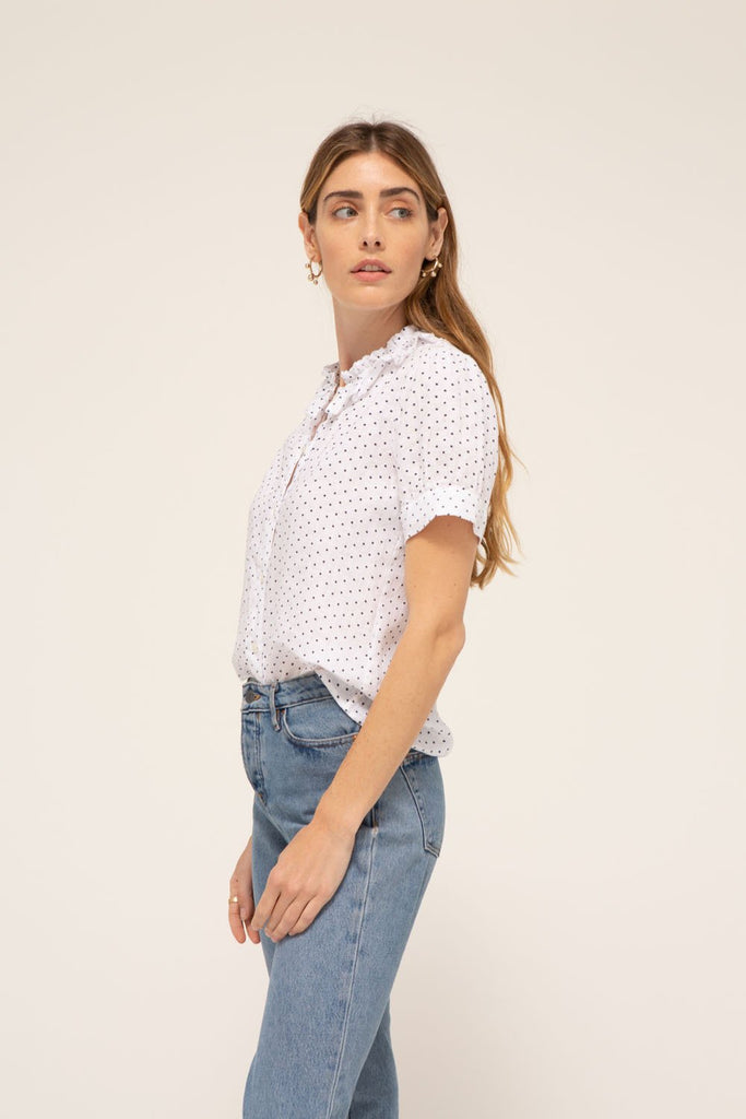 Madison Blouse, 100% cotton, made in the USA.