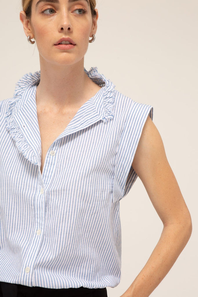 Anouk Top, 100% cotton, made in the USA.
