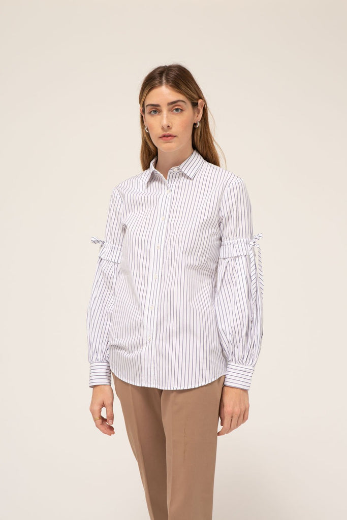 Pauline Shirt, 100% cotton, made in the USA.