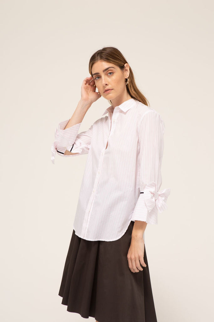 Elise Shirt, 100% cotton, made in the USA.