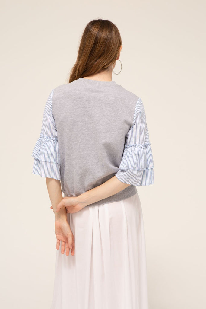 Agnes Top, 100% cotton, made in the USA.