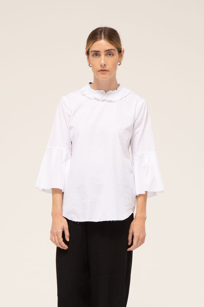 Sabine Top, 100% cotton, made in the USA.