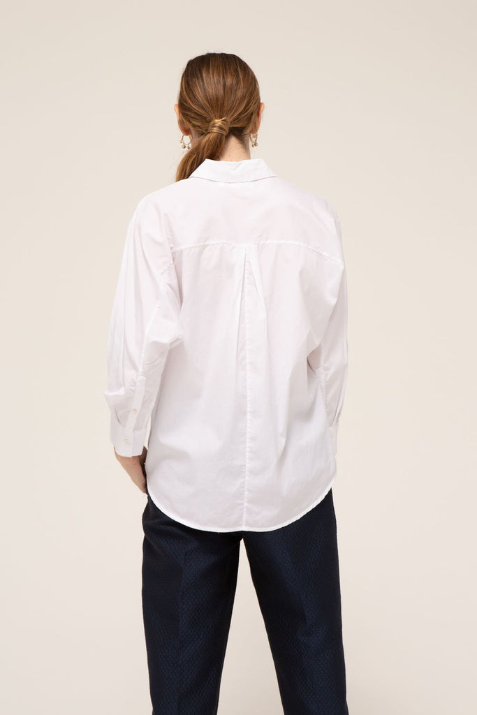 Alessandra Shirt, 100% cotton, made in the USA.