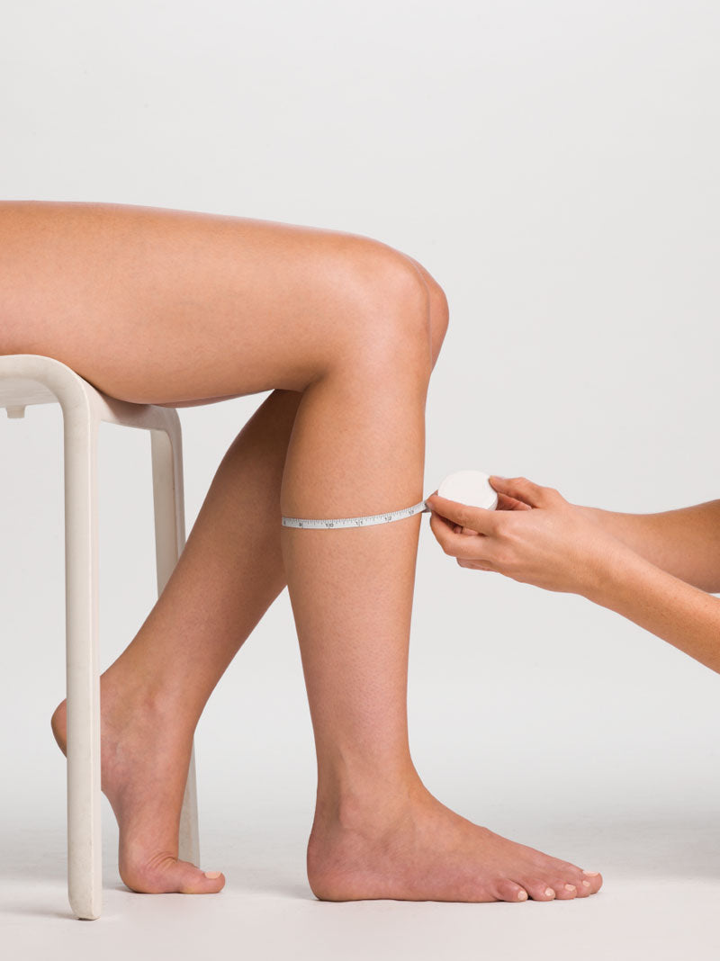Calf measurement for compression stockings