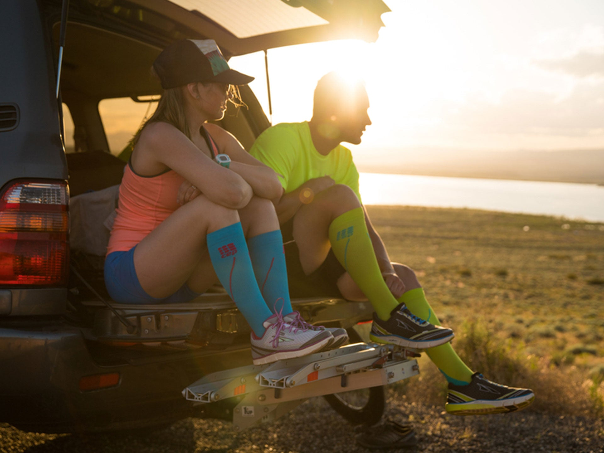 Sports Compression Socks with high tech fiber blends and designs