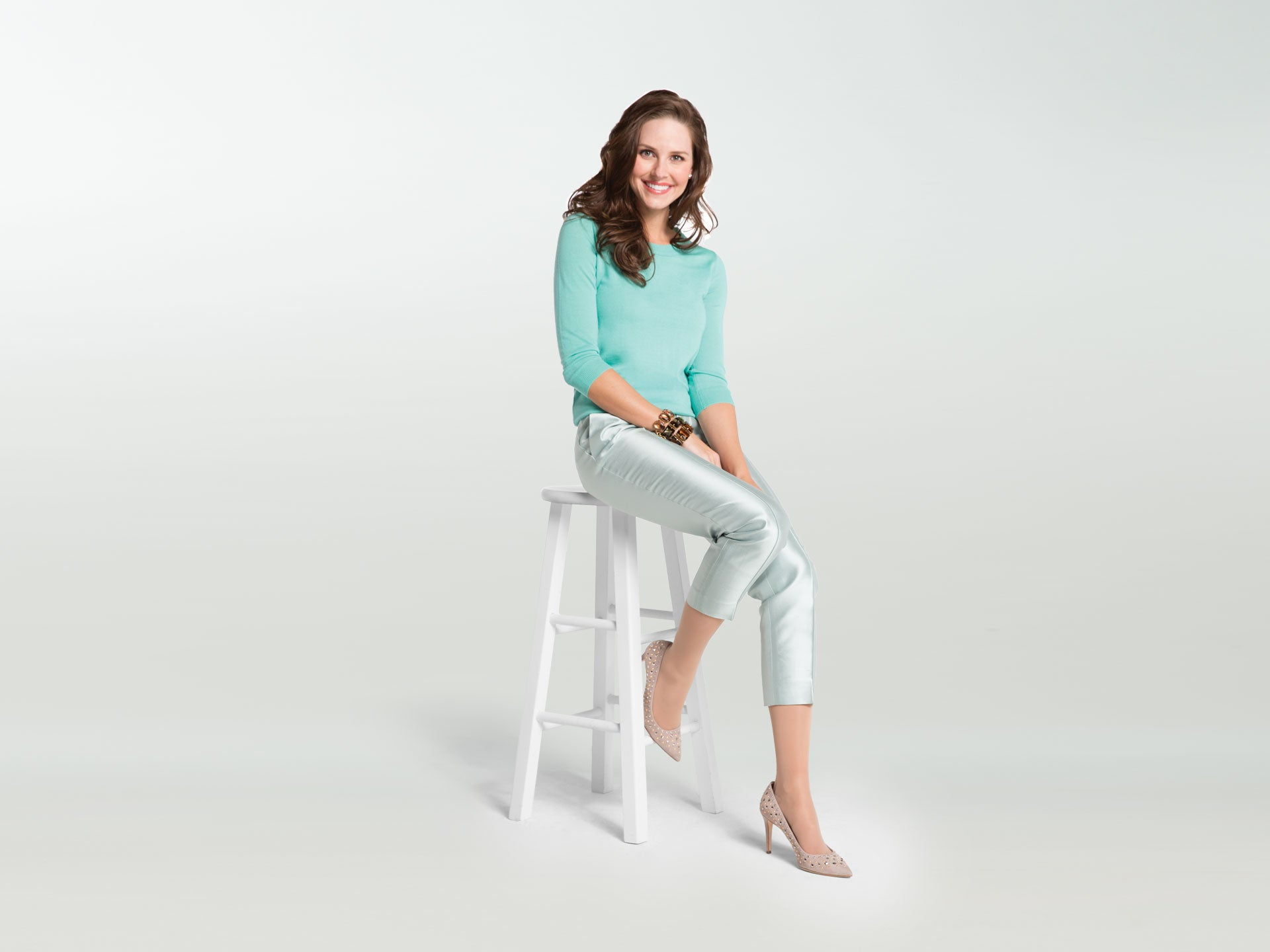 Sheer compression stockings and fabrics for women