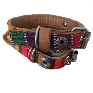 Extra-Small Leather Tribal Dog Collar - Mystic World Finds
