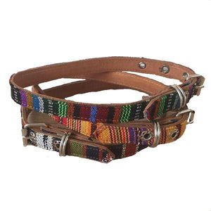 Small Dog Tribal Leather collar - Mystic World Finds