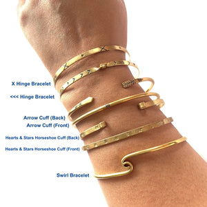 Verona Stackable Brass Bracelets and Cuffs - Mystic World Finds