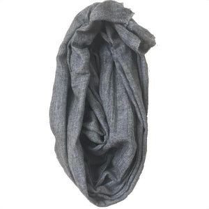 Super Soft Charcoal Gray Baby Yak Wool Scarf Shawl - Mystic World Finds