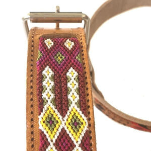 Small and Large Leather Tribal Dog Collars - Mystic World Finds