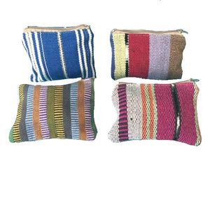 Naturally Dyed Handwoven Zippered Lined Coin Purse - Mystic World Finds