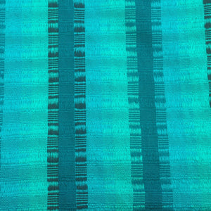 Striped Emerald Green Teal Hand Woven Hand Dyed Tassel Shawl Wrap from Guatemala