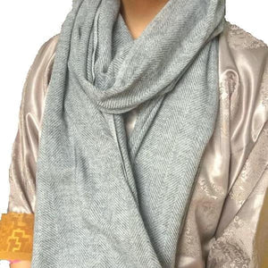 Super Soft Gray Baby Yak Wool Scarf Shawl - Mystic World Finds
