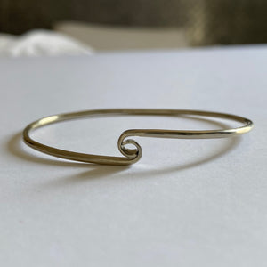 Verona Stackable Swirl Wave  Alpaca Silver Clasp Bracelet - Mystic World Finds