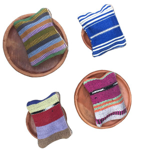 Naturally Dyed Cotton Zippered and Lined Coin Purse - Mystic World Finds