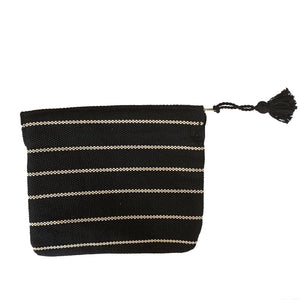 handmade striped black tablet zippered sleeve - Mystic World Finds