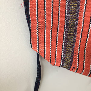 orange striped apron guatemalan textiles