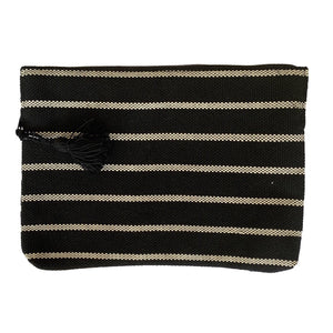 "handmade striped black 13"" laptop zippered sleeve - Mystic World Finds"