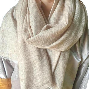 Super Soft Cream Baby Yak Wool Scarf Shawl - Mystic World Finds