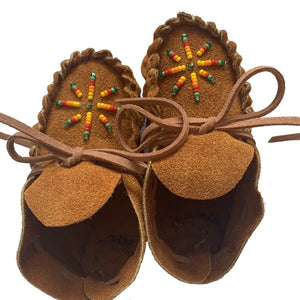 Suede Beaded Baby Moccasins - Mystic World Finds