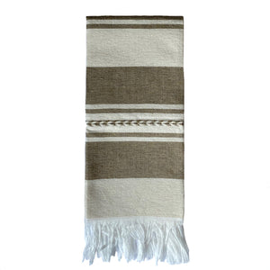 Beige and white Striped cotton dishcloths - Mystic World Finds