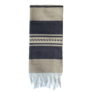 Beige and Black Striped cotton dishcloths - Mystic World Finds