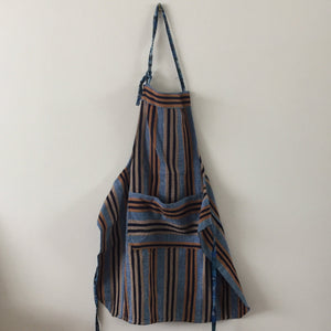 men's apron blue stripes