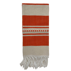Orange Striped cotton dish towel - Mystic World Finds