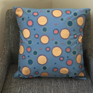 Polka Dot cotton and silk throw pillows - Mystic World Finds