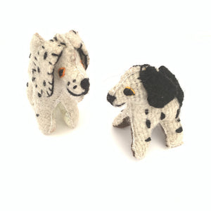 Chiapas Animals Animalitos Small Handmade Woolen Dalmation Dog Toys Chiapas - Mystic World Finds
