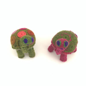 Chiapas Animals Animalitos Small Handmade Woolen Animal Turtles Chiapas - Mystic World Finds