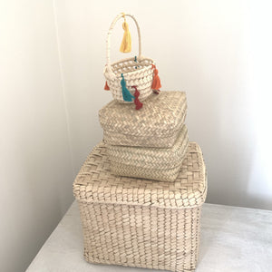Palm Leaf Basket Storage Containers - Mystic World Finds
