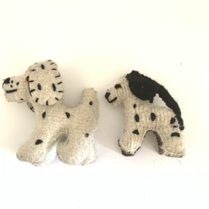Chiapas Animals Animalitos Small Handmade Woolen Dalmation Animal Toys Chiapas - Mystic World Finds