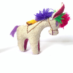 Handmade Woolen Animal Toys Chiapas Animalitos Colorful Donkey - Mystic World Finds