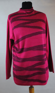 Charlotte High Neck Zig Zag Jumper