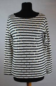 Olivia Stripped Top with Foil Print