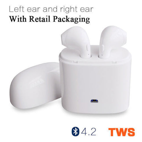 TWS Dual Wireless Bluetooth Earbud Headset In-Ear Earphone for A pple iPhone X 8 7 6 All mobile phones US