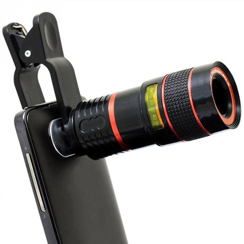 8X/12X Optical Zoom Telescope Camera Lens Clip Mobile Phone Telescope