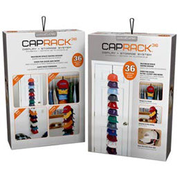Thirty-six (36) Baseball Cap Rack Hanging System Organizer for Big Baseball Hats