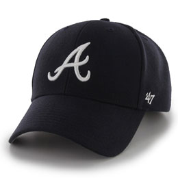 Atlanta Braves Embroidered MLB Structured Ball Caps for Big Heads fits Size 3XL