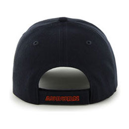 Auburn University (AU) NCAA College Structured Baseball Big Caps, fits Size 3XL, back-view