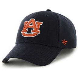 Auburn University (AU) NCAA College Structured Baseball Big Caps, fits Size 3XL
