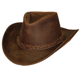 Authentic Brown Leather Size 8 Cowboy Hats, also Size 7 3/4 Cowboy Hats