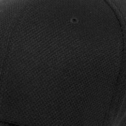 Big Black Wicking Flexfit Hats Sized to fit 3XL and 4XL material closeup