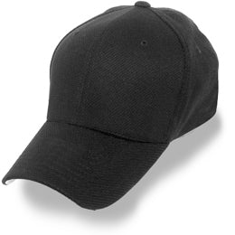 Big Black Wicking Flexfit Hats Sized to fit 3XL and 4XL