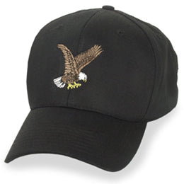 Black with Eagle Logo Structured Baseball style Big Hats fits Sizes 3XL and 4XL